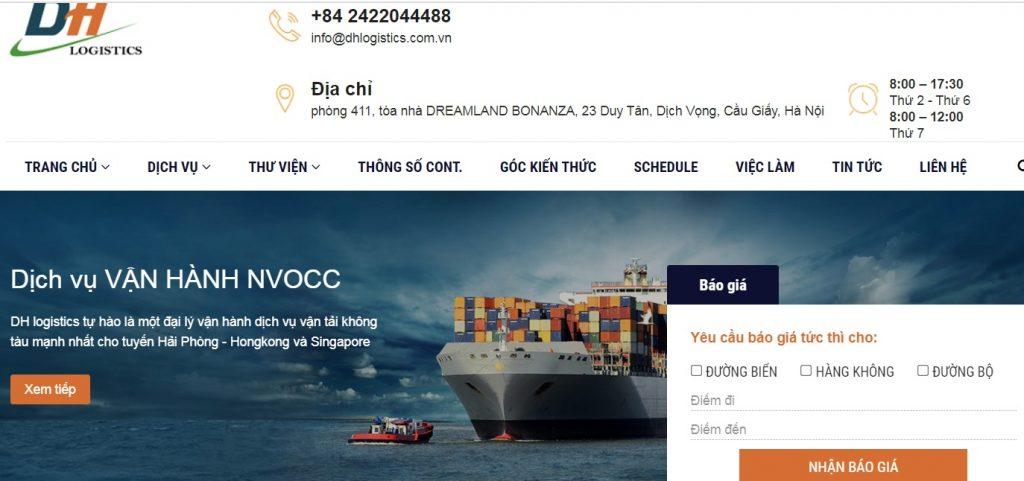Công ty dịch vụ hải quan DH logistics