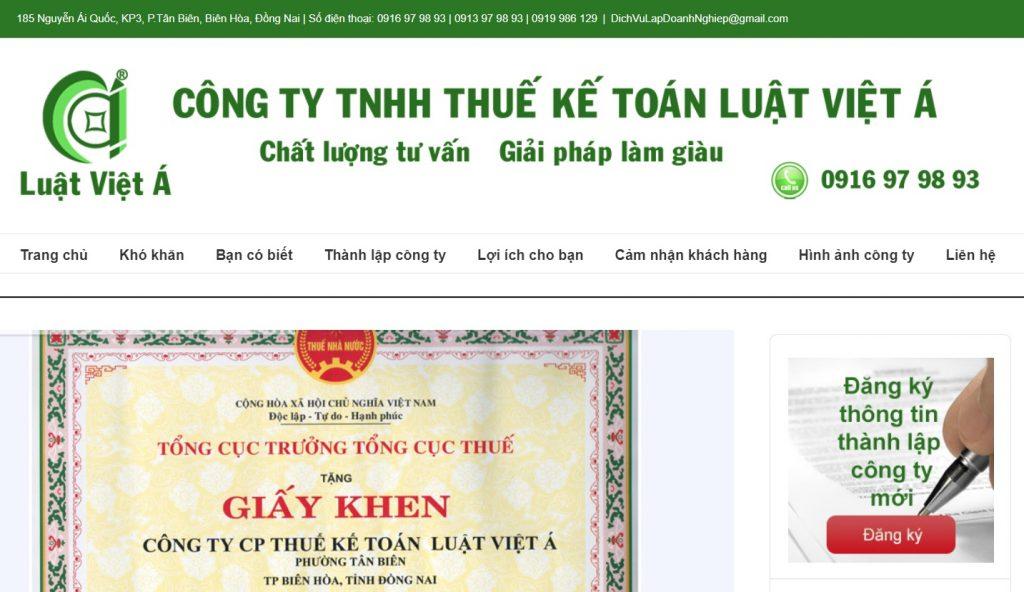 Dịch vụ thành lập công ty ở Đồng Nai - Kế toán luật việt á