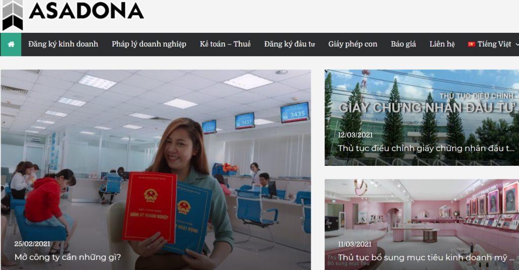 Dịch vụ thành lập công ty tại Đồng Nai - ASADONA