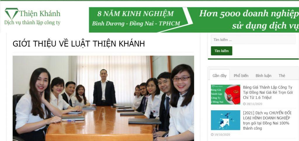 Dịch vụ thành lập công ty tại Đồng Nai - Tư vấn Thiện Khánh