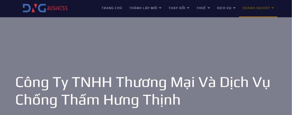 Công ty chống thấm Hưng Thịnh có tiếng tại Sài Gòn