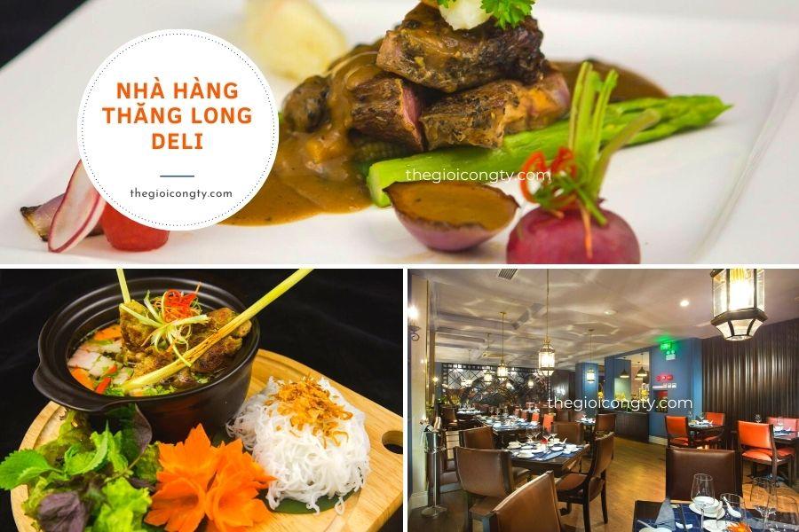 Nhà hàng thăng long Deli ngon ở Hà Nội